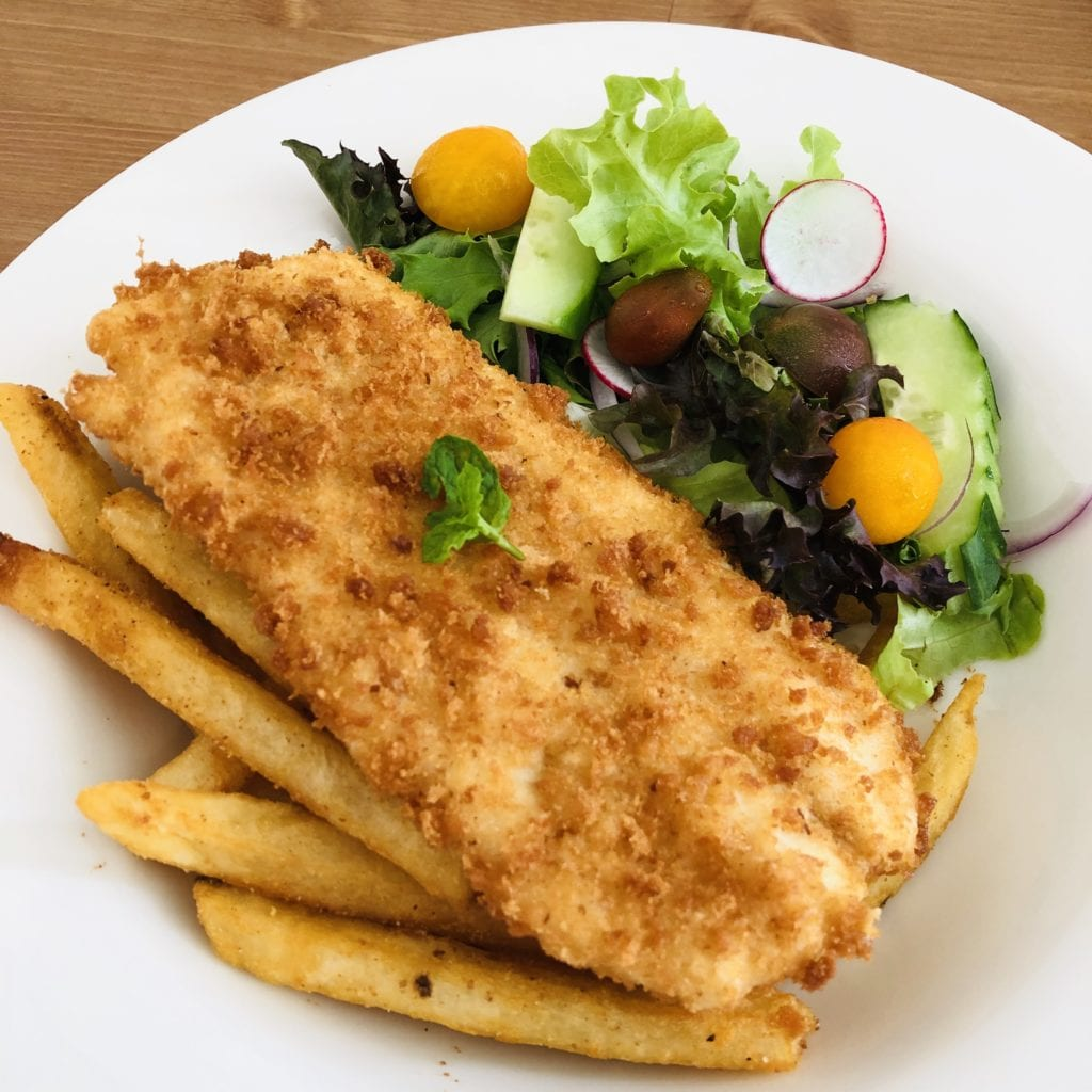 Fish Chips Salad Farmrak